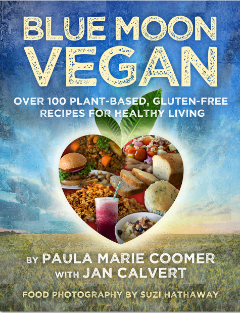 Blue Cover Cookbook : Meghan varner blue moon vegan by paula marie coomer with